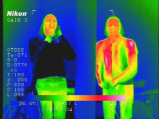 Solar reflective clothing thermal image