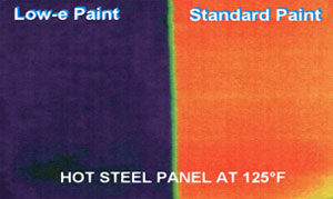 Thermal image of a hot steel plate